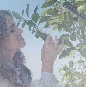 Aerin Lauder Smelling Orange Blossoms