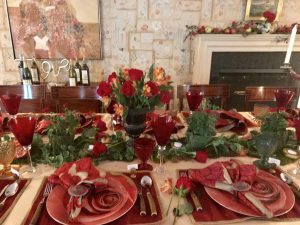 Another Carolyne Roehm Floral Table Setting