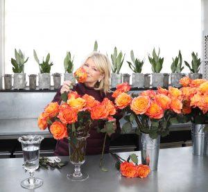 Martha Stewart With Orange Flowers