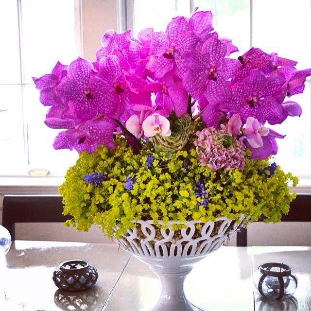 A Beautiful Pink and Yellow Floral Arrangement