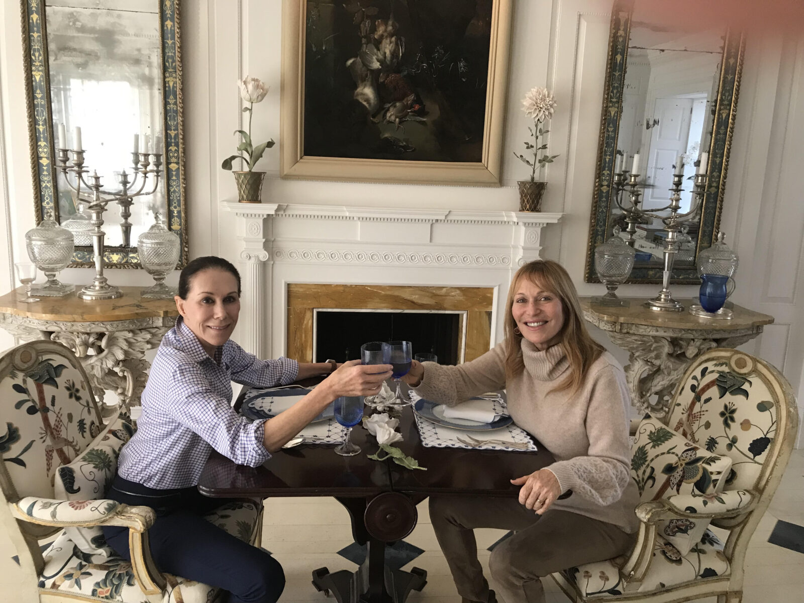 Jill Brooke With Carolyne Roehm