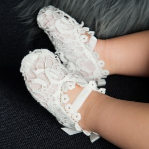 Baby lace booties baby shower gifts