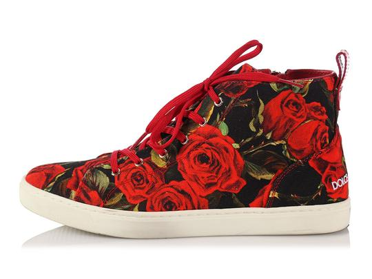 Dolce & Gabbana Sneakers With Roses
