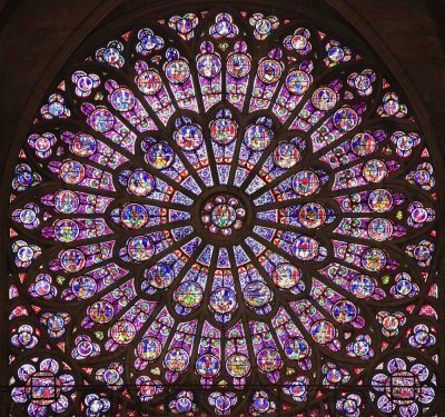 The north rose window Notre Dame