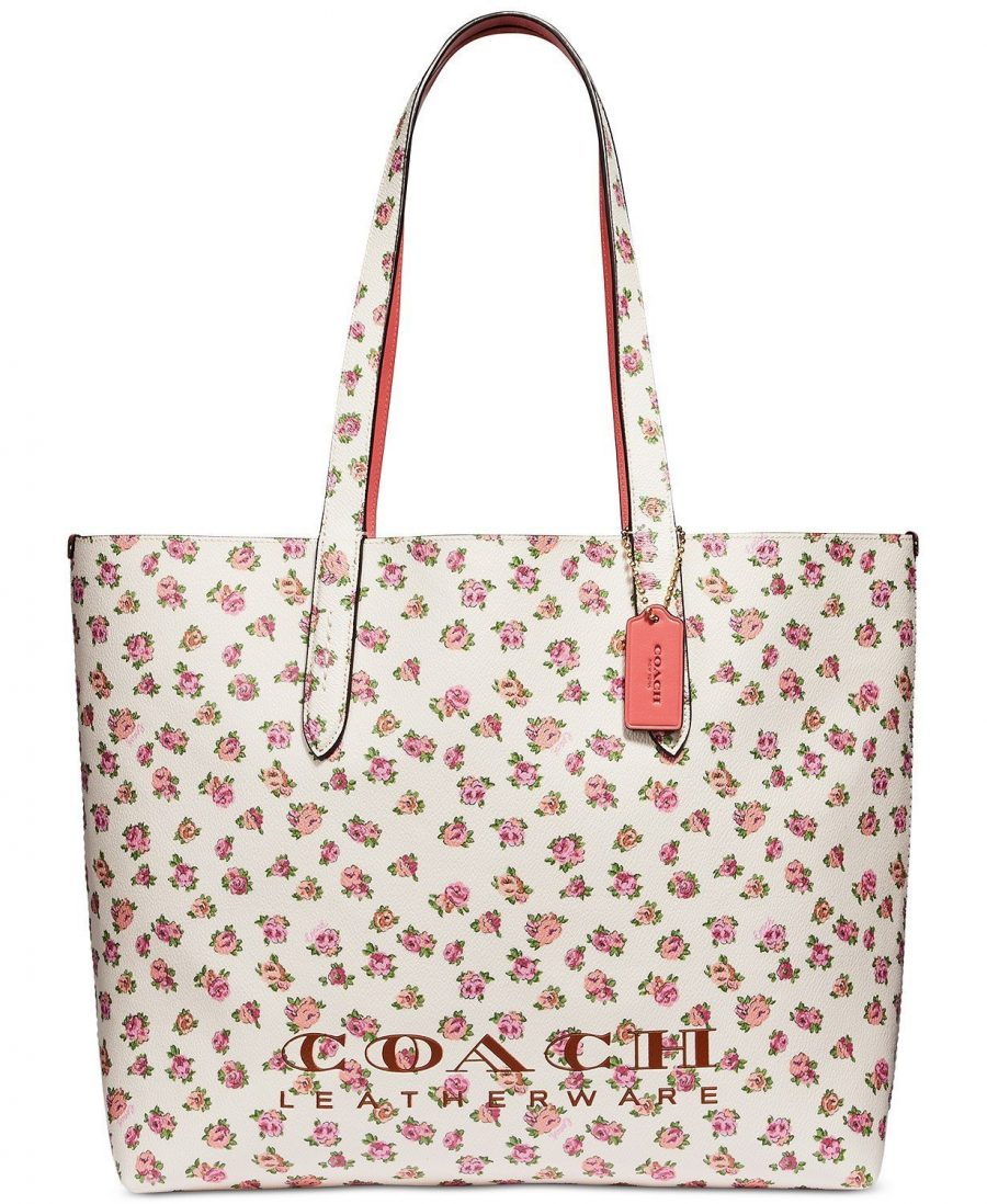 The Flowered Coach Leather Tote