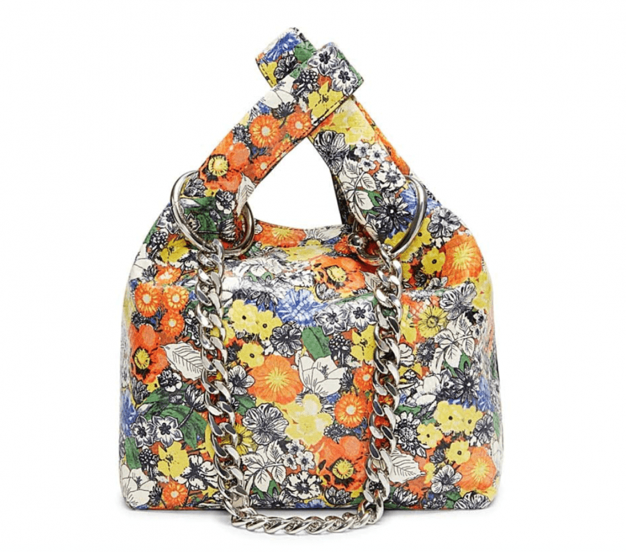 Karlie Chain Floral Shopper Bag
