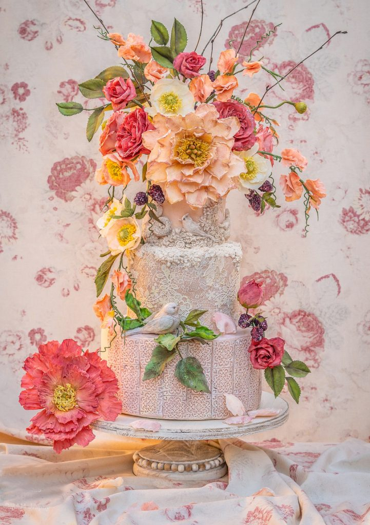 Julie Simon Peonies Flower Cake