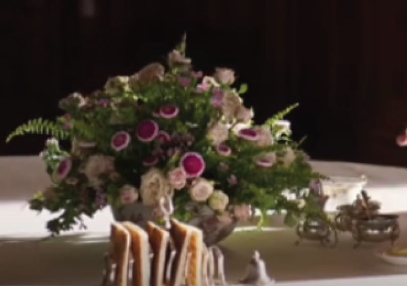 Downton Abbey floral table arrangement