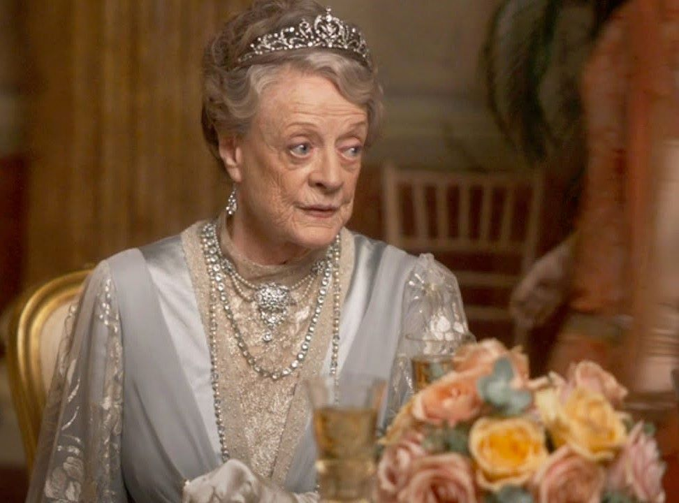 Maggie Smith Downton Abbey Flowers