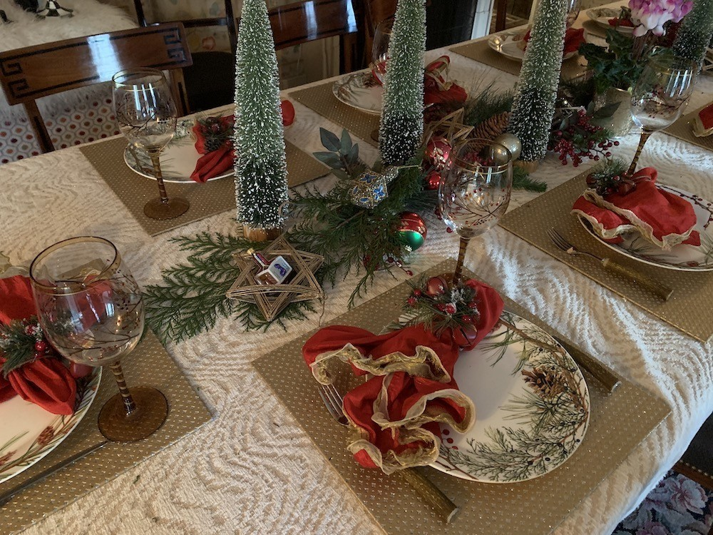 Combining Holiday Traditions in Table Decor - Chanukah Options