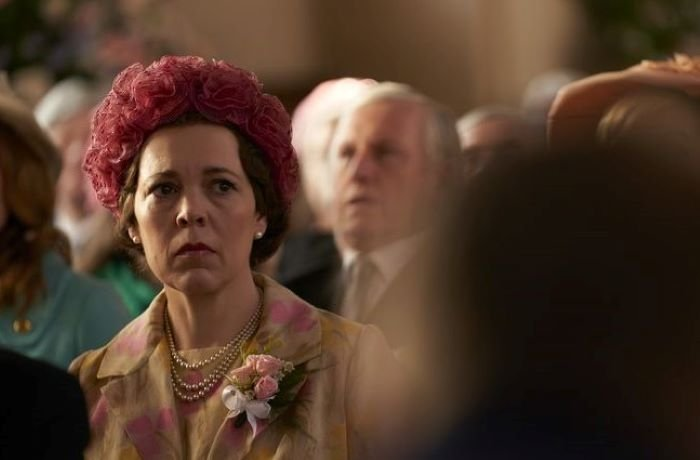Petal Hats being worn by Queen Elizabeth character on The Crown