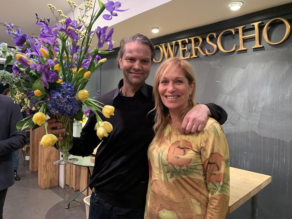 Master Florist Remco van Vliet with Jill Brooke