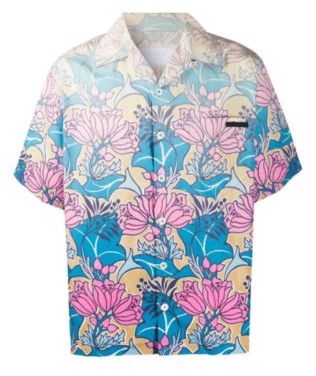 floral shirt floral blouse watercolor blouse Multicolor blouse Hawaiian shirt 90/'s floral Clothing Vintage Flower blouse Flower shirt L 14