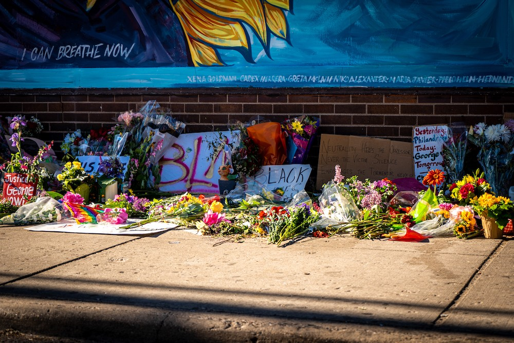 George Floyd Memorial Flowers MUNSHOTS / Shutterstock.com