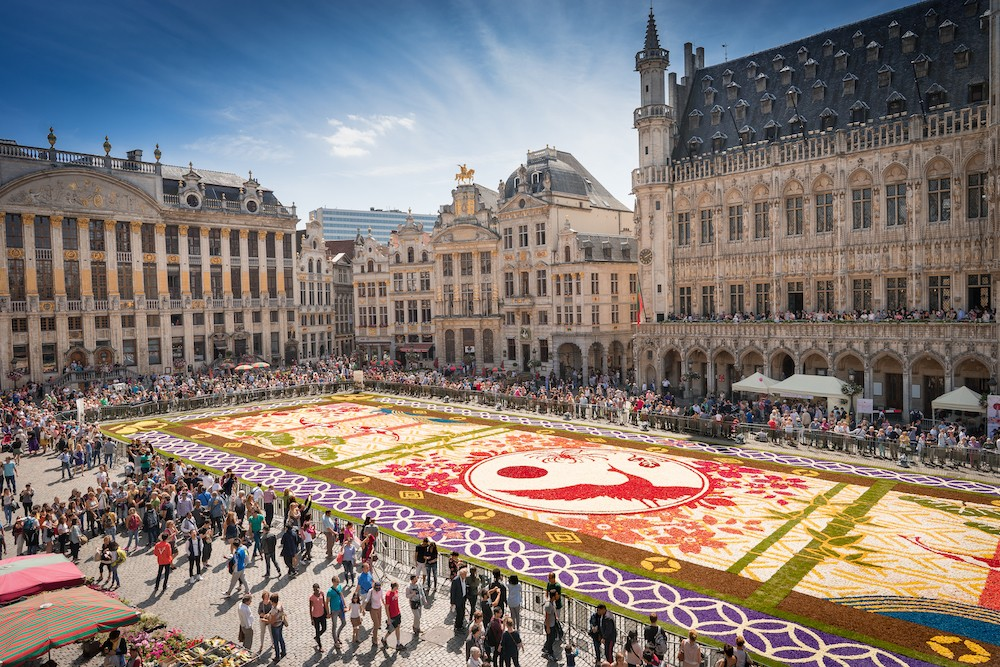 flower carpet brussels shutterstock